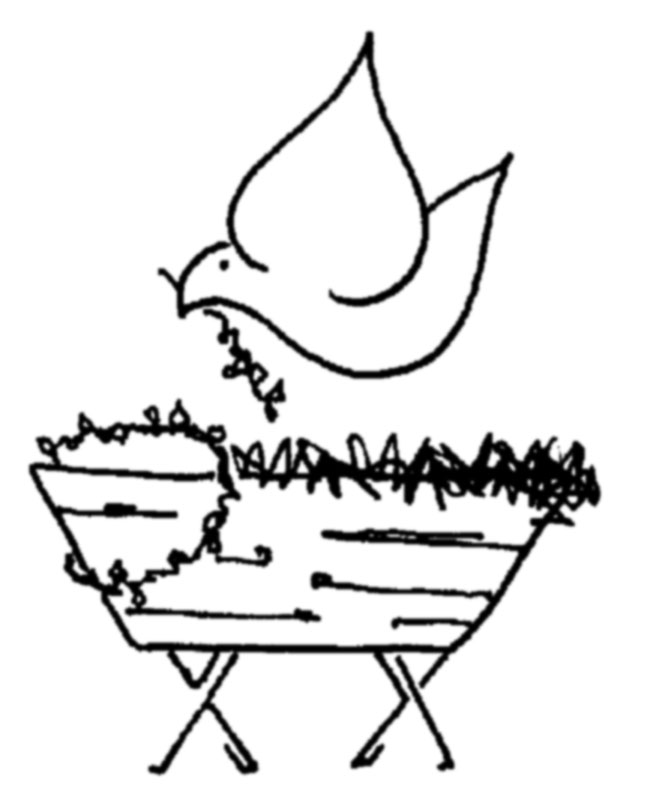 empty manger coloring pages - photo#28