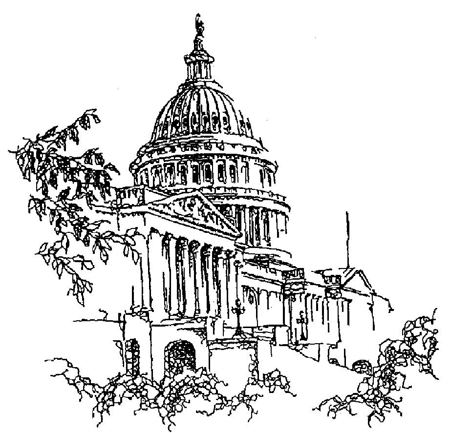 simple capitol building coloring pages - photo#10